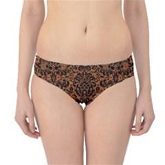 DAMASK2 BLACK MARBLE & RUSTED METAL Hipster Bikini Bottoms