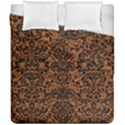 DAMASK2 BLACK MARBLE & RUSTED METAL Duvet Cover Double Side (California King Size) View1