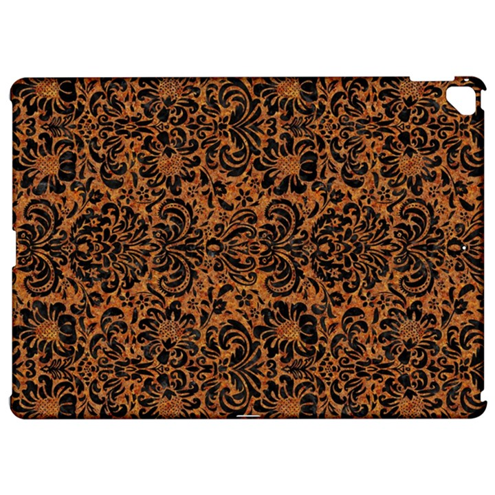 DAMASK2 BLACK MARBLE & RUSTED METAL Apple iPad Pro 12.9   Hardshell Case