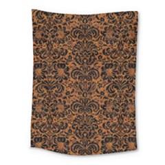 DAMASK2 BLACK MARBLE & RUSTED METAL Medium Tapestry