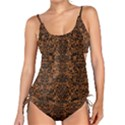 DAMASK2 BLACK MARBLE & RUSTED METAL Tankini Set View1