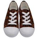 DAMASK2 BLACK MARBLE & RUSTED METAL Kids  Low Top Canvas Sneakers View1
