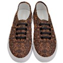 DAMASK2 BLACK MARBLE & RUSTED METAL Women s Classic Low Top Sneakers View1