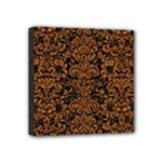 DAMASK2 BLACK MARBLE & RUSTED METAL (R) Mini Canvas 4  x 4