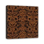 DAMASK2 BLACK MARBLE & RUSTED METAL (R) Mini Canvas 6  x 6