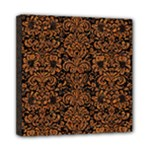 DAMASK2 BLACK MARBLE & RUSTED METAL (R) Mini Canvas 8  x 8