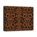 DAMASK2 BLACK MARBLE & RUSTED METAL (R) Canvas 10  x 8