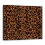DAMASK2 BLACK MARBLE & RUSTED METAL (R) Canvas 24  x 20