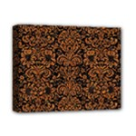 DAMASK2 BLACK MARBLE & RUSTED METAL (R) Deluxe Canvas 14  x 11