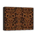 DAMASK2 BLACK MARBLE & RUSTED METAL (R) Deluxe Canvas 16  x 12   View1