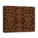 DAMASK2 BLACK MARBLE & RUSTED METAL (R) Deluxe Canvas 20  x 16   View1