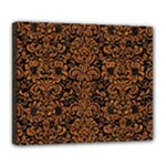 DAMASK2 BLACK MARBLE & RUSTED METAL (R) Deluxe Canvas 24  x 20
