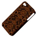 DAMASK2 BLACK MARBLE & RUSTED METAL (R) Apple iPhone 4/4S Hardshell Case (PC+Silicone) View4
