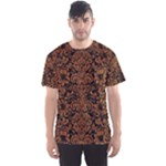 DAMASK2 BLACK MARBLE & RUSTED METAL (R) Men s Sports Mesh Tee