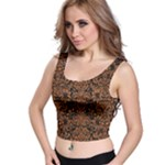 DAMASK2 BLACK MARBLE & RUSTED METAL (R) Crop Top