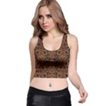 DAMASK2 BLACK MARBLE & RUSTED METAL (R) Racer Back Crop Top