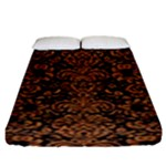 DAMASK2 BLACK MARBLE & RUSTED METAL (R) Fitted Sheet (King Size)