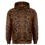 DAMASK2 BLACK MARBLE & RUSTED METAL (R) Men s Pullover Hoodie
