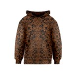 DAMASK2 BLACK MARBLE & RUSTED METAL (R) Kids  Pullover Hoodie