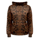 DAMASK2 BLACK MARBLE & RUSTED METAL (R) Women s Pullover Hoodie