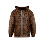 DAMASK2 BLACK MARBLE & RUSTED METAL (R) Kids  Zipper Hoodie