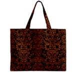 DAMASK2 BLACK MARBLE & RUSTED METAL (R) Zipper Mini Tote Bag