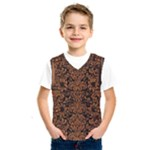 DAMASK2 BLACK MARBLE & RUSTED METAL (R) Kids  SportsWear