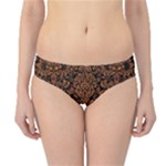 DAMASK2 BLACK MARBLE & RUSTED METAL (R) Hipster Bikini Bottoms