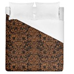 DAMASK2 BLACK MARBLE & RUSTED METAL (R) Duvet Cover (Queen Size)