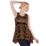 DAMASK2 BLACK MARBLE & RUSTED METAL (R) Side Drop Tank Tunic