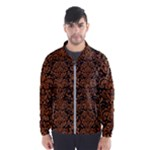 DAMASK2 BLACK MARBLE & RUSTED METAL (R) Wind Breaker (Men)