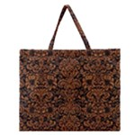 DAMASK2 BLACK MARBLE & RUSTED METAL (R) Zipper Large Tote Bag