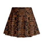 DAMASK2 BLACK MARBLE & RUSTED METAL (R) Mini Flare Skirt
