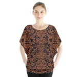 DAMASK2 BLACK MARBLE & RUSTED METAL (R) Blouse