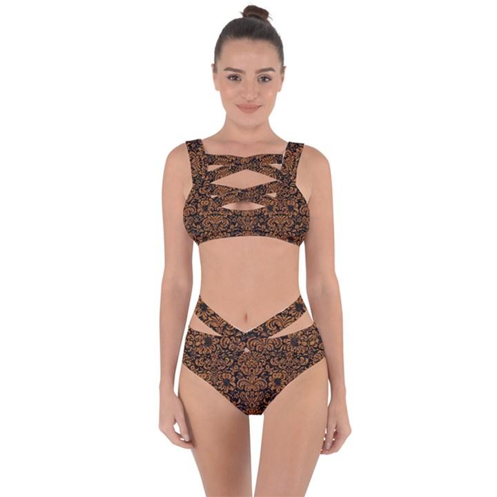 DAMASK2 BLACK MARBLE & RUSTED METAL (R) Bandaged Up Bikini Set