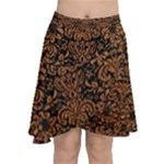 DAMASK2 BLACK MARBLE & RUSTED METAL (R) Chiffon Wrap