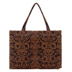 DAMASK2 BLACK MARBLE & RUSTED METAL (R) Medium Tote Bag