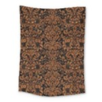 DAMASK2 BLACK MARBLE & RUSTED METAL (R) Medium Tapestry