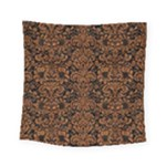 DAMASK2 BLACK MARBLE & RUSTED METAL (R) Square Tapestry (Small)