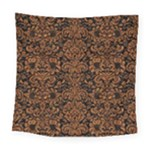 DAMASK2 BLACK MARBLE & RUSTED METAL (R) Square Tapestry (Large)