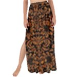 DAMASK2 BLACK MARBLE & RUSTED METAL (R) Maxi Chiffon Tie-Up Sarong