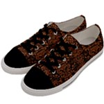 DAMASK2 BLACK MARBLE & RUSTED METAL (R) Men s Low Top Canvas Sneakers