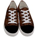 DAMASK2 BLACK MARBLE & RUSTED METAL (R) Women s Low Top Canvas Sneakers View1