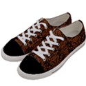 DAMASK2 BLACK MARBLE & RUSTED METAL (R) Women s Low Top Canvas Sneakers View2