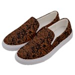 DAMASK2 BLACK MARBLE & RUSTED METAL (R) Men s Canvas Slip Ons