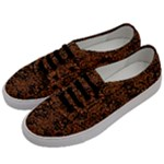 DAMASK2 BLACK MARBLE & RUSTED METAL (R) Men s Classic Low Top Sneakers