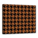 HOUNDSTOOTH1 BLACK MARBLE & RUSTED METAL Canvas 24  x 20  View1