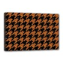 HOUNDSTOOTH1 BLACK MARBLE & RUSTED METAL Canvas 18  x 12  View1