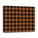 HOUNDSTOOTH1 BLACK MARBLE & RUSTED METAL Deluxe Canvas 20  x 16   View1