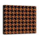 HOUNDSTOOTH1 BLACK MARBLE & RUSTED METAL Deluxe Canvas 24  x 20   View1